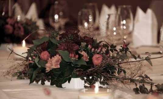 Tischdekoration für die Gäste